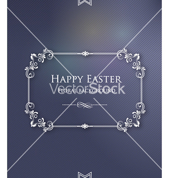 Free easter with floral frame vector - Kostenloses vector #224715