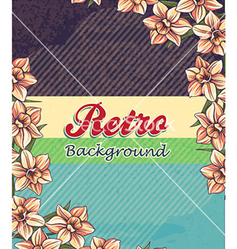 Free retro floral background vector - Free vector #224755
