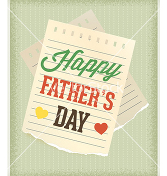 Free fathers day vector - Free vector #224775