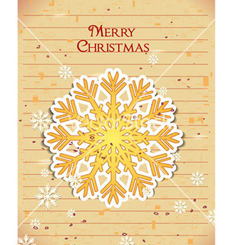 Free christmas with sticker snow flake vector - vector gratuit #224835