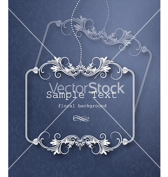 Free floral frame vector - Free vector #225455