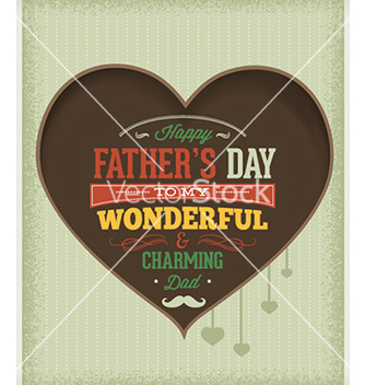 Free fathers day vector - Free vector #225905