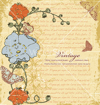 Free vintage floral background vector - Free vector #226055