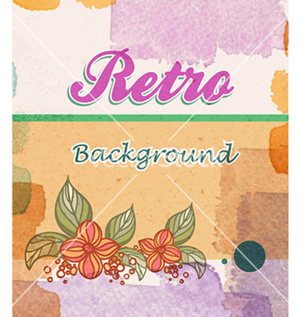 Free retro floral background vector - Free vector #226325