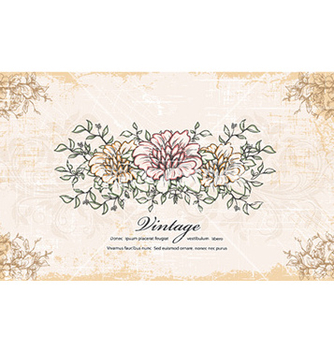 Free vintage background with floral vector - Free vector #226485