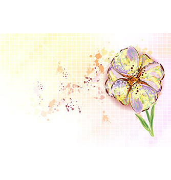 Free watercolor floral background vector - Free vector #226525