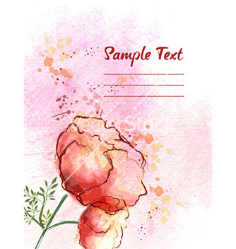 Free background with floral vector - vector #226645 gratis