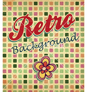 Free retro floral background vector - Free vector #226755