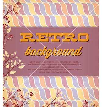 Free retro floral background vector - Kostenloses vector #227025