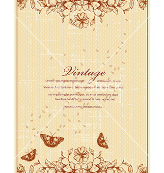 Free vintage floral background vector - Kostenloses vector #227045