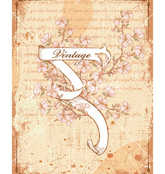 Free vintage scroll with floral vector - бесплатный vector #227065