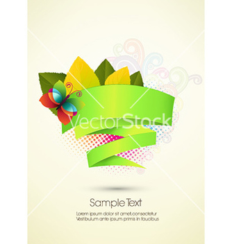 Free abstract banner vector - Free vector #227075