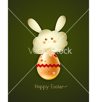 Free bunny face with egg vector - vector #227385 gratis