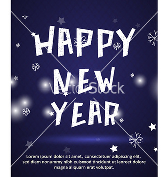 Free happy new year vector - vector #227595 gratis