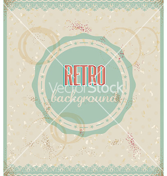 Free retro floral background vector - Kostenloses vector #227645