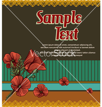 Free retro floral background vector - vector gratuit #228195