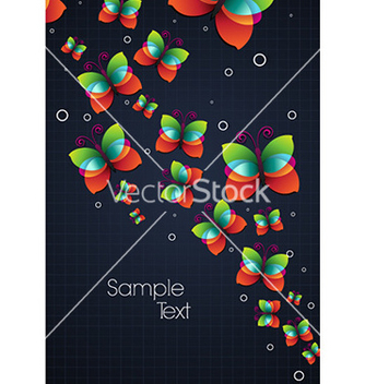 Free colorful butterflies vector - Kostenloses vector #228375