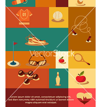 Free with sport elements vector - Kostenloses vector #228485