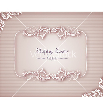 Free easter with floral frame vector - Kostenloses vector #228605