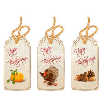 Free thanksgiving shopping tags vector - Free vector #228615