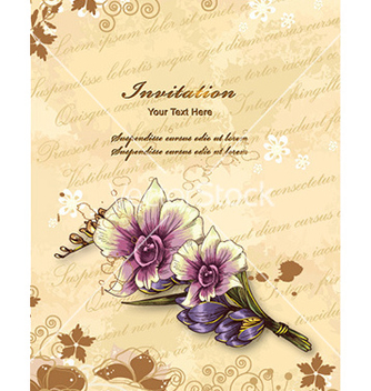 Free floral background vector - Kostenloses vector #228655