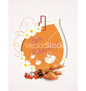Free happy thanksgiving day with sticker vector - Free vector #228945