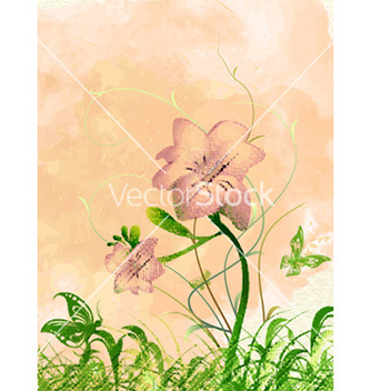 Free watercolor floral background vector - бесплатный vector #229265