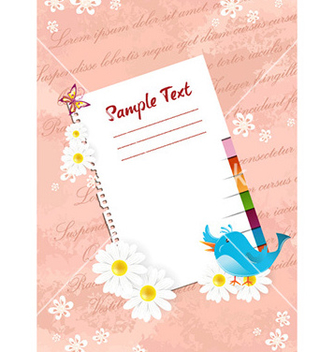 Free blank paper with bird vector - Free vector #230075