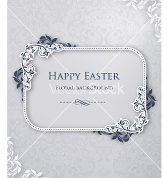 Free easter with floral frame vector - Kostenloses vector #230175
