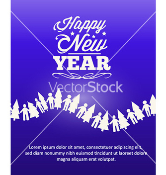 Free happy new year vector - vector gratuit #230245