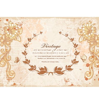 Free laurel with floral vector - vector gratuit #230445