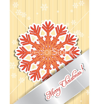 Free christmas with snow flake vector - vector gratuit #230905