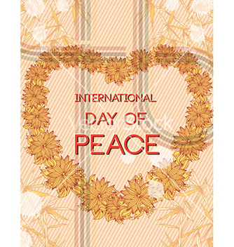 Free international day of peace with flowers vector - Kostenloses vector #231005