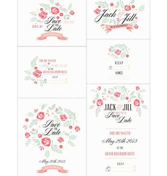 Free wedding invite designs vector - Free vector #231035