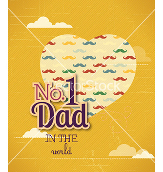 Free fathers day vector - Kostenloses vector #231255