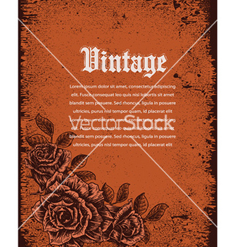 Free vintage floral background vector - Free vector #231755