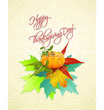 Free happy thanksgiving day with pumpkin vector - Free vector #231865