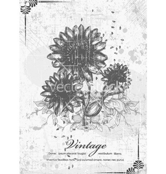 Free floral with grunge vector - vector #232065 gratis