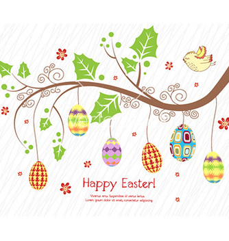 Free branch with eggs vector - vector gratuit #232125