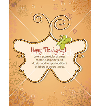 Free happy thanksgiving day vector - Free vector #232375