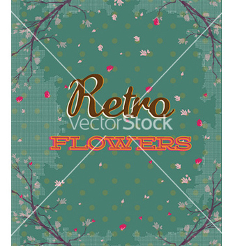 Free retro floral background vector - vector gratuit #232435