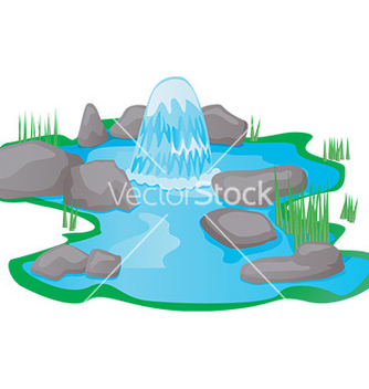 Free cartoon pond scene vector - vector gratuit #232485