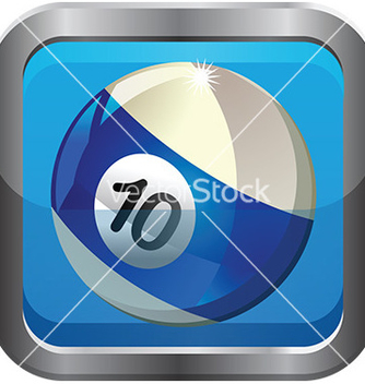 Free pool ball icon vector - Kostenloses vector #232555