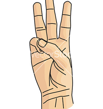 Free cartoon hand gesture vector - vector gratuit #232565