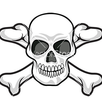 Free skull and crossbones icon vector - Free vector #232695