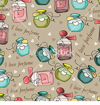 Free pattern with hearts and perfume vector - бесплатный vector #233005
