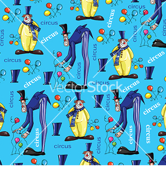Free pattern with clowns on a blue background vector - Free vector #233015