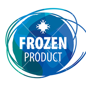Free round blue logo for frozen products vector - Free vector #233065