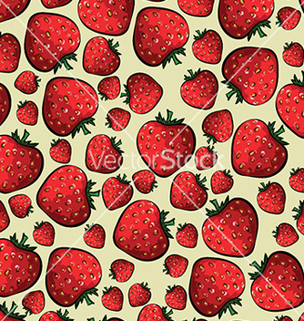 Free pattern with strawberries on a yellow background vector - Free vector #233255