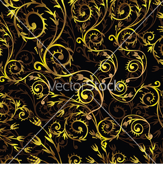 Free beautiful pattern with gold floral pattern on a vector - vector gratuit #233295
